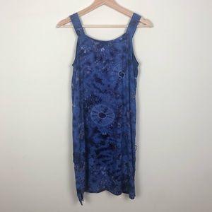 Lady's Spun Strap Blue Dress, SZ L